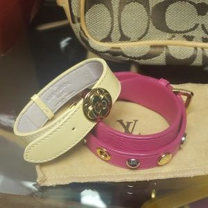 Lot of 2 Louis Vuitton Bracelets